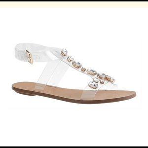 JCrew Jeweled T-strap sandals NWOT